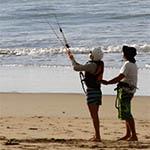kite school lanzarote with Beginer Kitesurfing Lessons
